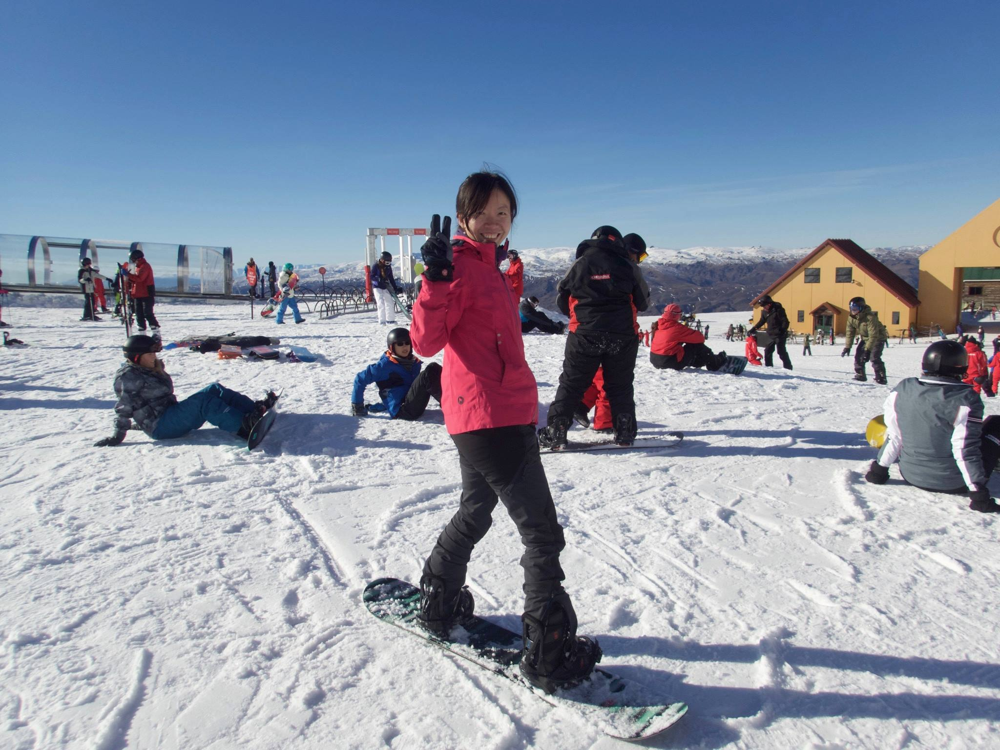 Panny snowboarding